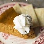 Crock Pot Crustless Pumpkin Pie - This recipe for a crustless version of the holiday favorite bakes up beautifully in your slow cooker freeing up the oven. Throw on a quick pan of pie crust strips and you have the perfect dessert for crust lovers and crust haters alike!