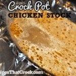 Crock Pot Chicken Stock