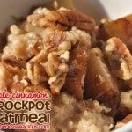 Crock Pot Steel Cut Oatmeal: Apple Cinnamon