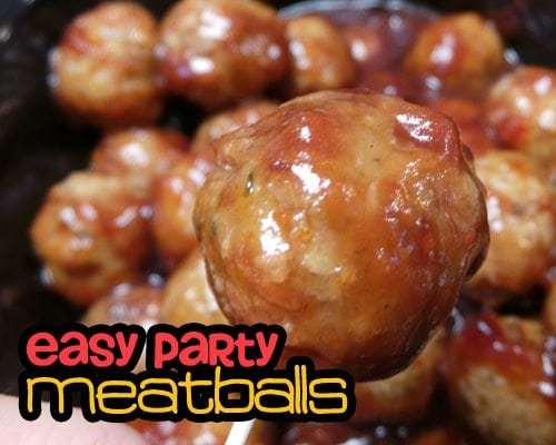 ... … ESPECIALLY when my Easy Party Meatballs are the cRock Star
