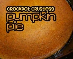 Crock Pot Crustless Pumpkin Pie