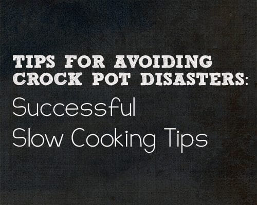 Slowcooker tips