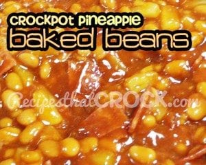 Slow cooker Pineapple Baked Beans