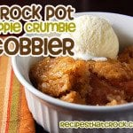 Crock Pot Apple Crumble Cobbler