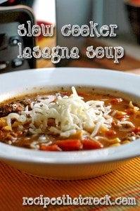 Slow Cooker Lasagna Soup #SlowCooker #Crockpot #RecipesThatCrock
