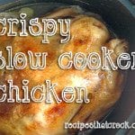 Getting crispy skin on chicken made in a #SlowCooker or #Crockpot