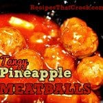 Tangy Pineapple Meatballs #Crockpot #SlowCooker