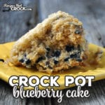 Are you looking for a quick and easy recipe that is great for breakfast or as a dessert? Then you simply must try this Crock Pot Blueberry Cake. You're gonna love it!