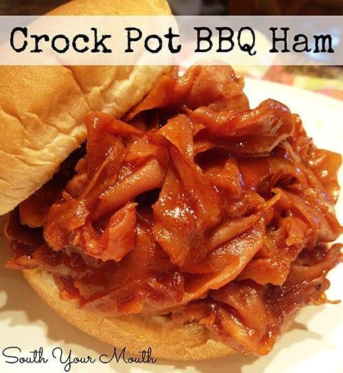 crockpot BBQ Ham
