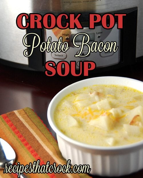 This Crock Pot Potato Bacon Soup is an easy comforting potato soup that you can make in your slow cooker.