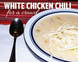 Freezer Friendly White Chicken Chili