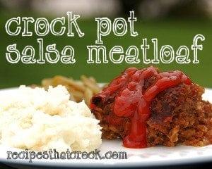 Crock Pot Salsa Meatloaf