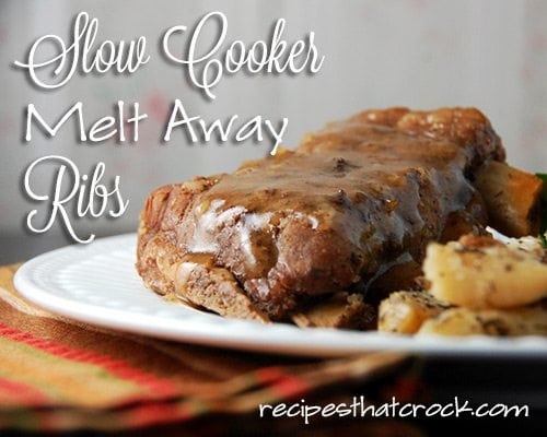 Slow Cooker Melt Away Ribs