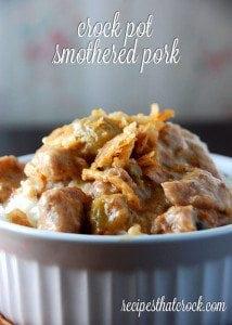 Crock Pot Smothered Pork