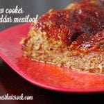 Slow Cooker Cheddar Meatloaf