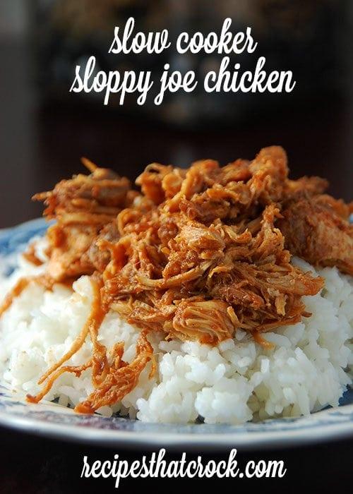 Slow Cooker Sloppy Joe Chicken