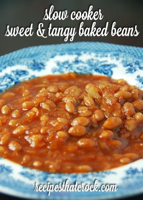 Slow Cooker Sweet and Tangy Baked Beans