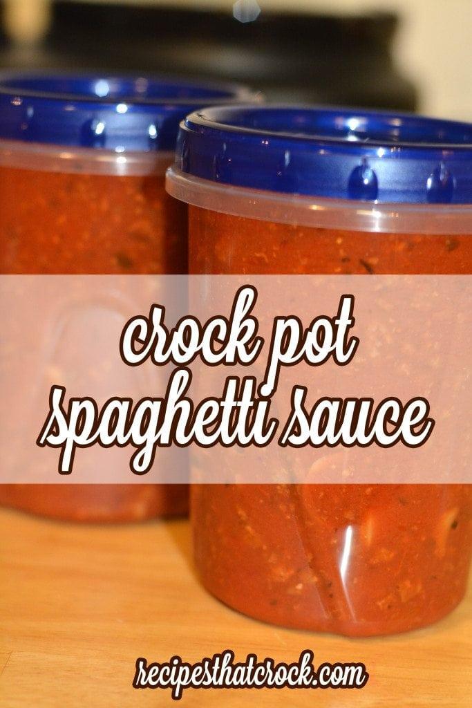 Freezer Friendly Crock Pot Spaghetti Sauce