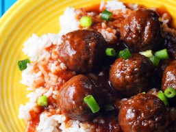 Italian Scallion Crock Pot Meatballs