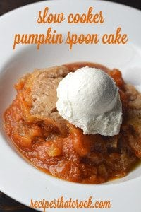Crock Pot Pumpkin Dessert