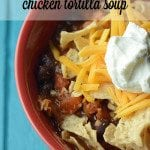 Crock Pot Chicken Tortilla Soup