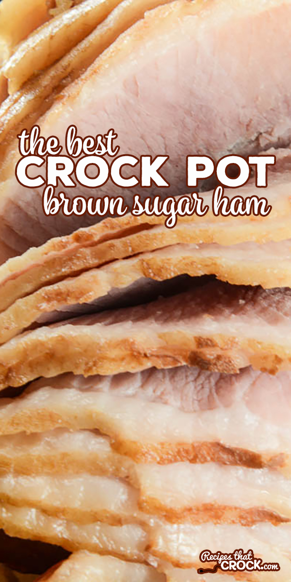 One of our very favorite Crock Pot Ham Recipes. Great for spiral or regular cooked ham. Fail proof way of cooking ham in crockpot. This is THE best Crock Pot Brown Sugar Ham we have found! via @recipescrock