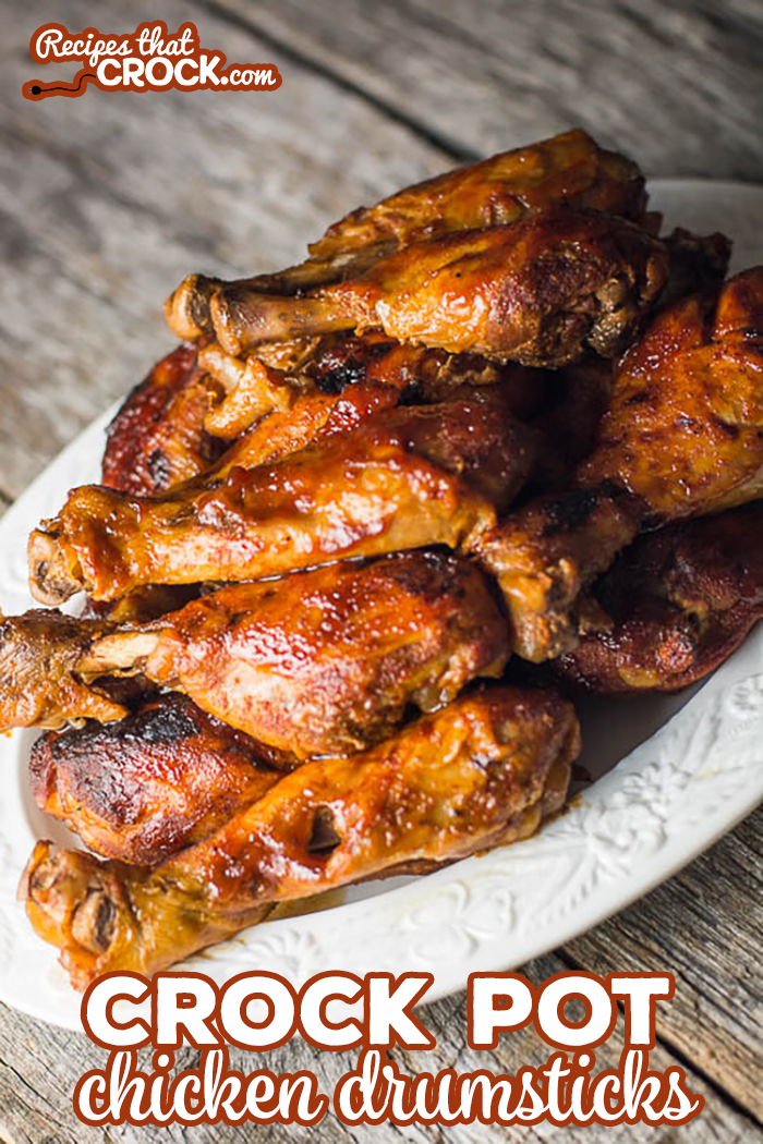 Crock Pot Chicken Drumstick Recipe: Easy crock pot recipe for chicken legs. So flavorful and our trick to getting that off the grill taste! via @recipescrock