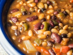 Crock Pot Party Beans: The PERFECT dish for any potluck! Fantastic flavor. Everyone will want this recipe.