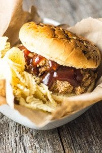 Easy Crock Pot Pulled Pork: Are you looking for a fool proof recipe for pulled pork? This is our go-to crock pot pork, pulled to perfection!