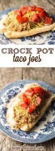 Crock Pot Taco Joes - These aren't your mama's sloppy joes! Delicious sandwiches for a crowd