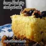 Lemon-Blueberry Crock Pot Cake