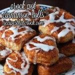 Crock Pot Cinnamon Rolls