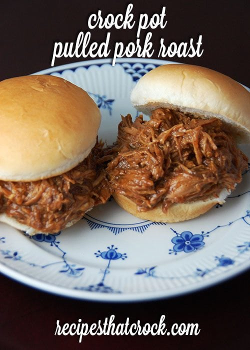 Crock Pot Pulled Pork Roast - Wonderful flavor with OR without the bbq sauce!