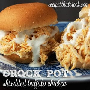 Crock Pot Shredded Buffalo Chicken