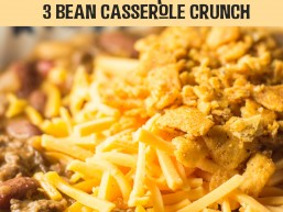 Crock Pot 3 Bean Casserole Crunch: Great meal on its own or perfect as a party side dish. Everyone will ask you for the recipe!