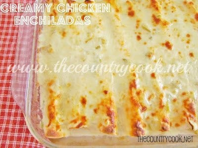 Creamy Chicken Enchiladas (with graphics)