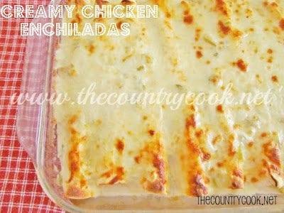Creamy Chicken Enchiladas (with graphics)