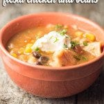 Crock Pot Fiesta Chicken and Beans
