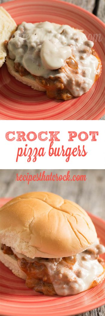 Crock Pot Pizza Burgers : These are so good! Everyone loves them with their favorite pizza toppings and they are SO easy to make!