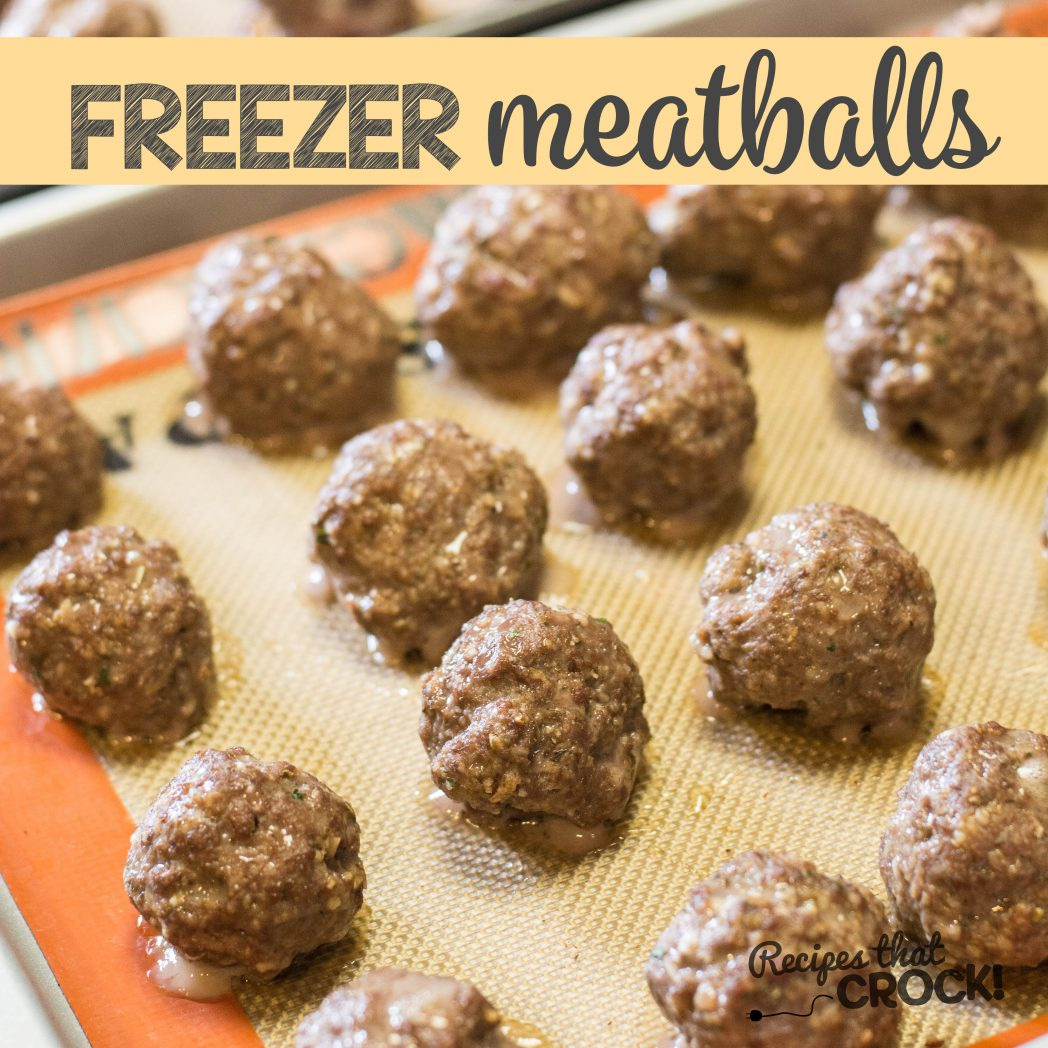 Homemade Frozen Meatballs - Perfect to add to your spaghetti or throw ...