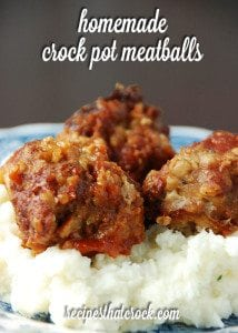 Homemade Crock Pot Meatballs - Simple and delicious homemade meatball recipe that everyone will enjoy!