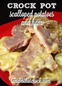 Crock Pot Scalloped Potatoes & Ham - A new family favorite. So easy and delicious!