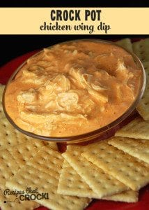 This Crock Pot Chicken Wing Dip is the BEST chicken wing dip ever!
