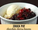 This Crock Pot Chocoalte Cherry Heaven is a little piece of heaven in a bowl!