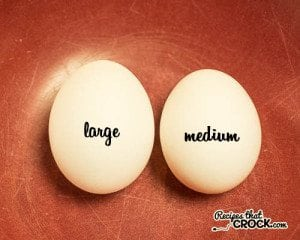 What is the difference between large and medium eggs
