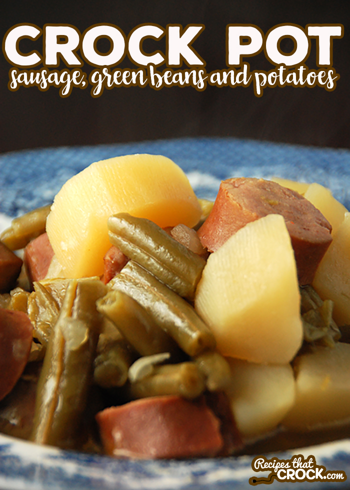 This Crock Pot Sausage, Green Beans and Potatoes is an instant family favorite! via @recipescrock