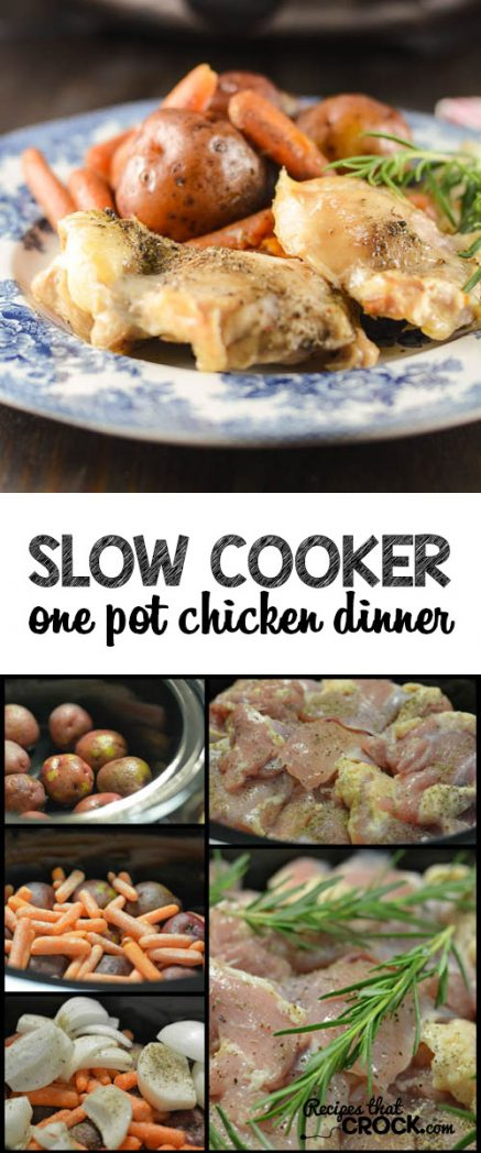 Slow Cooker One Pot Chicken Dinner: Delicious one pot crock pot meal!