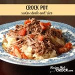 This Crock Pot Swiss Steak and Rice is a delectable sweet and savory dish!