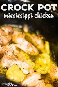 Crock Pot Mississippi Chicken Thighs: We took one of our favorite roast recipes and turned it into a delicious chicken dish! Perfect for an easy weeknight dinner or a great dish for company!