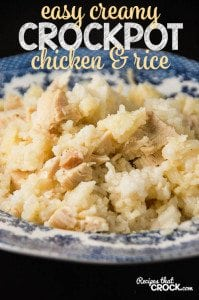 Easy Creamy Chicken Rice Casserole! So simple to throw together.